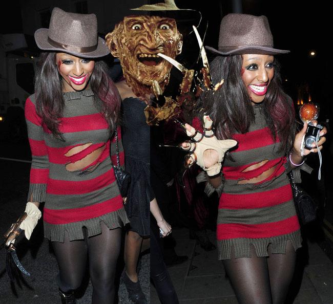 Halloween Style: Alexandra Burke Reveals Herself as Freddy Krueger ...