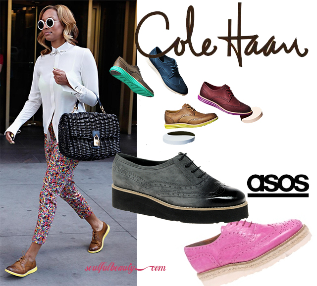 Get The Look For Less Keri Hilson S Cole Haan Lunargrand Wingtip Shoes