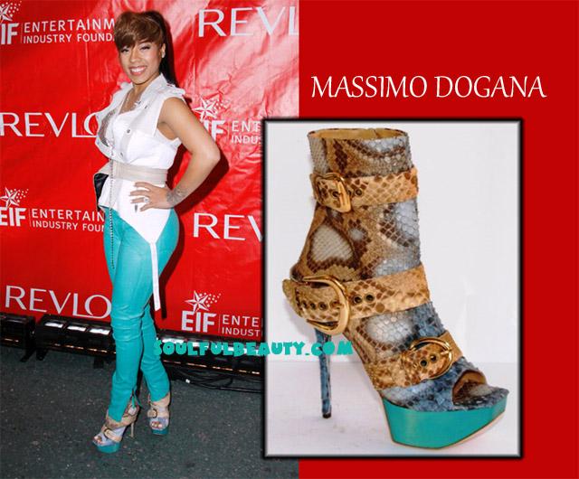 Celeb Style: Keyshia Cole Steps to The Stage in Massimo Dogana