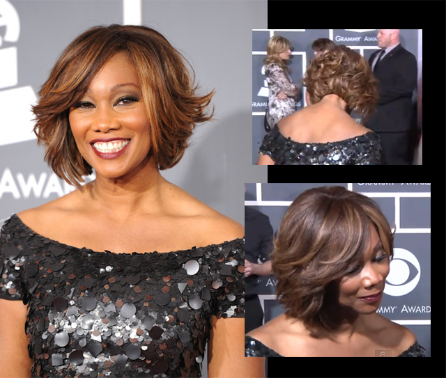 Celebrity Hair: Yolanda Adams' Feathered Bob Cut for The GRAMMYS