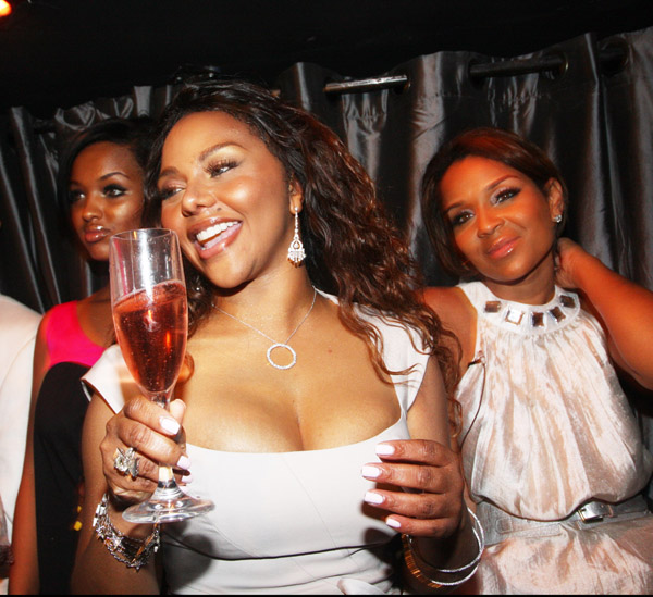 Ingrid Rivera, at far right in a photo snapped at the nightclub just hours before her death at a party for Lil' Kim.