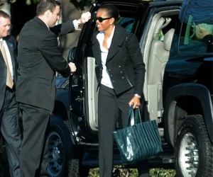 First Lady Michelle O Rocks Reed Krakoff Ribbon Tote