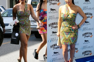 celeb-style-kim-k-and-amber-rose-in-mara-hoffman-tribal-print