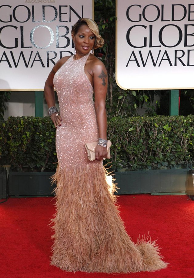 celeb-style-mary-j-blige-in-the-nude-at-2012-golden-globe-awards