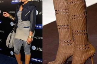 celeb-style-nicki-minaj-in-gucci-basket-weave-boots-for-att-4g-launch