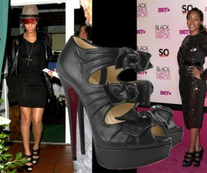 Rihanna and Shontelle in Louboutin Madam Butterfly's