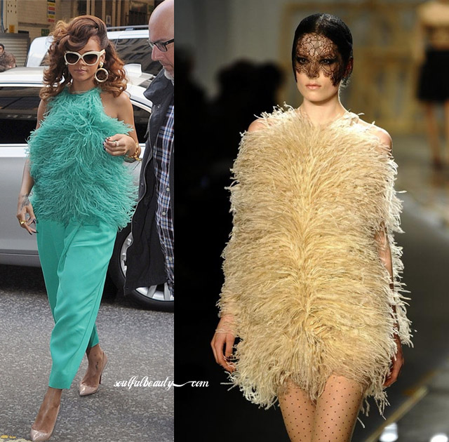 celeb-style-rihanna-in-jason-wu-ostrich-feathers-for-fragrance-promo