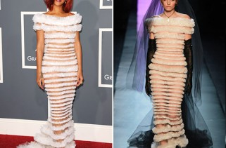 celeb-style-rihanna-in-jean-paul-gaultier-on-the-grammy-red-carpet