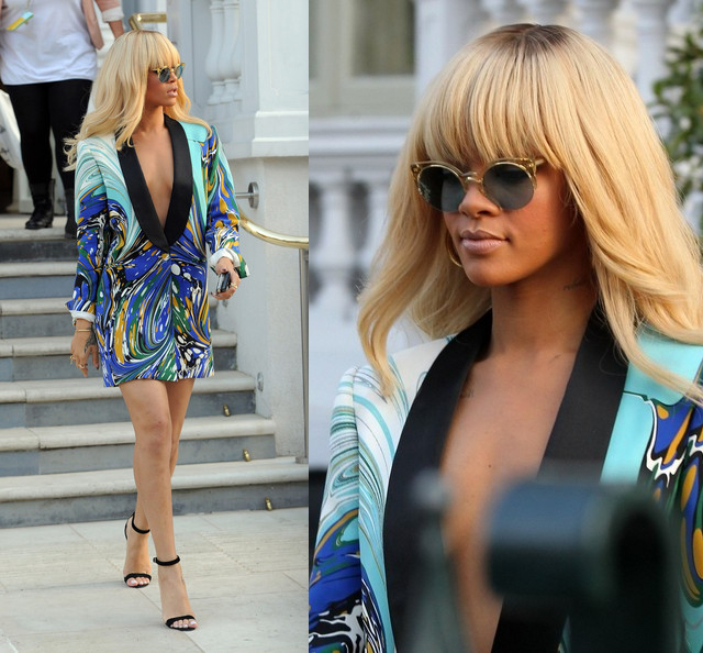 celeb-style-rihanna-working-with-retro-cat-eye-sunglasses-in-london