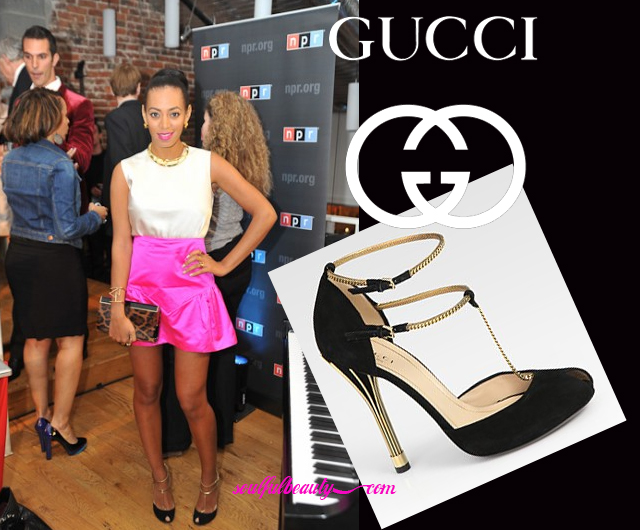 celeb-style-solange-knowles-in-gucci-gold-chain-sandals-for-npr-spin-party