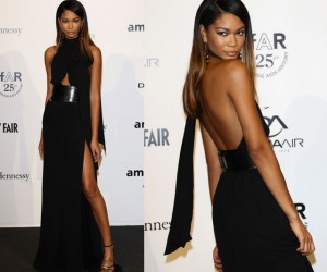 Chanel Iman Shows Up for The Third Annual amfAR Milano Event in Milan