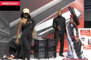 Janet Jackson, Ciara, Keri Hilson, and Nicki Minaj Model Kiss Red Pro