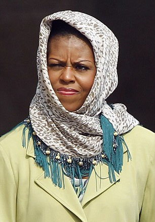michelle-obama-adds-fuel-to-muslim-rumors-by-wearing-headscarf