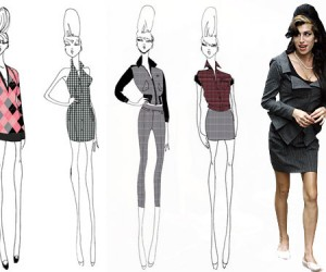 Sketches from Amy Winehouse's Fashion Collection Surface