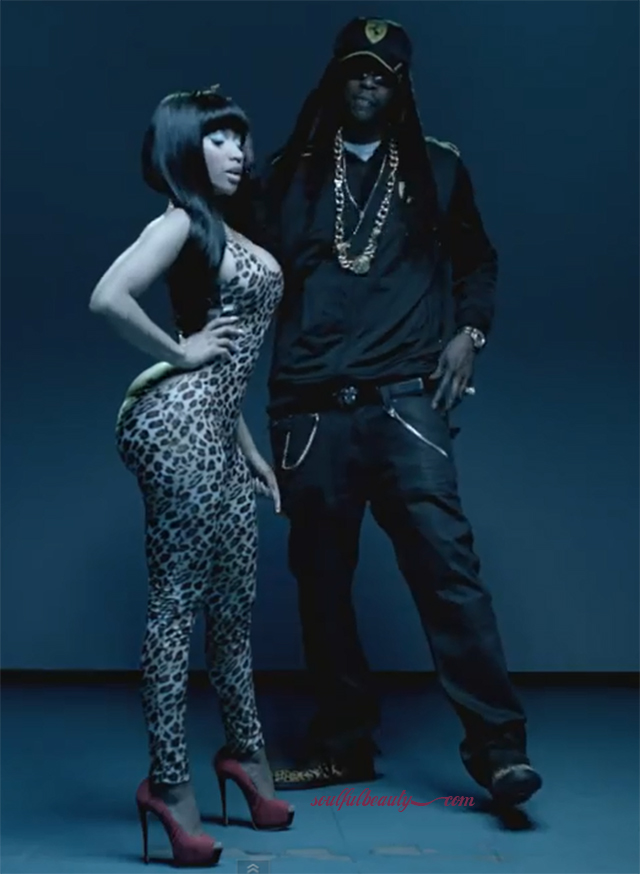 video-fashion-nicki-minaj-beez-in-the-trap-animal-print-cutout-jumpsuit