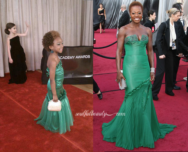 viola-davis-has-five-year-old-competition-on-the-academy-awards-red-carpet