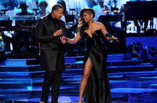 TARAJI AND TERRENCE'S WHITE HOT HOLIDAYS: L-R: Terrence Howard and Taraji P. Henson perform in the TARAJI AND TERRENCE'S WHITE HOT HOLIDAYS airing Wednesday, Dec. 9 (9:00-10:00 PM ET/PT) on FOX. ©2015 Fox Broadcasting Co. CR: Frank Micelotta/FOX